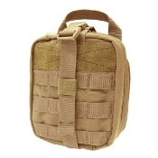 Tan Rip-Away First Aid Pouch  Large Molle