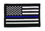 USA American Thin Blue Line Police Flag